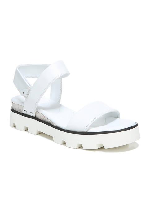 Franco Sarto L-Umber White Lugged Sandals