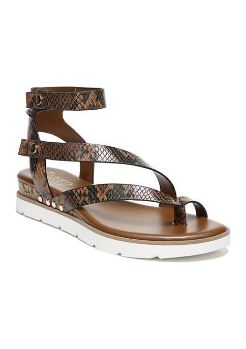Franco Sarto L-Daven Cognac Strappy Sandals