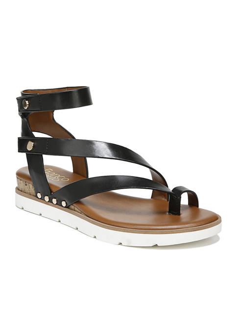 Franco Sarto L-Daven Goldenrod Strappy Sandals