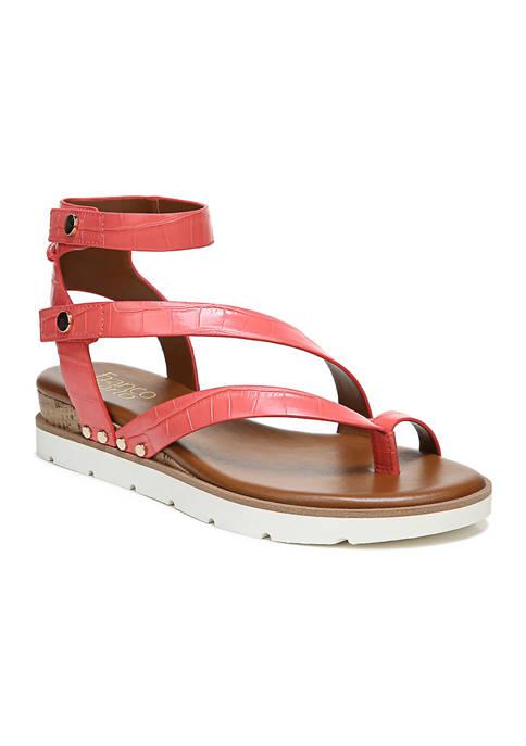 Franco Sarto L-Daven Coral Strappy Sandals