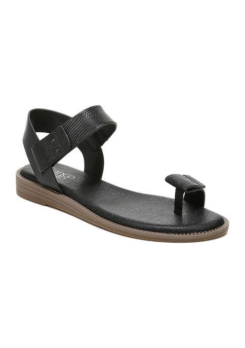 L-Geranio Black Sandals