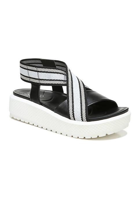 Franco Sarto L-Niko Black Sandals