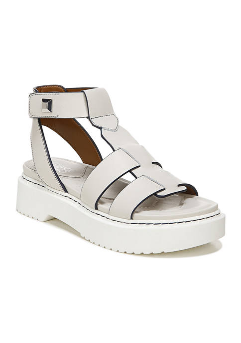 Franco Sarto L-Wallow Warm Honey Lugged Sandals