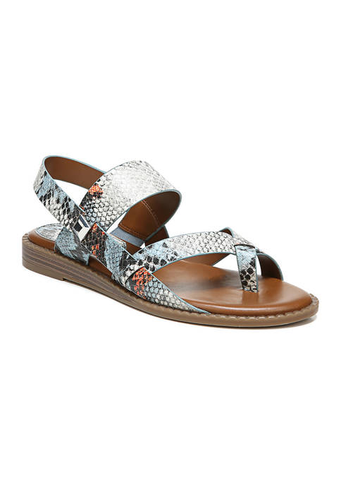 Gans Blue Multi Sandals