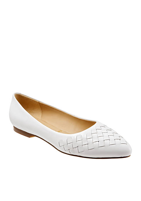 Trotters Estee Woven Pointed Toe Flats