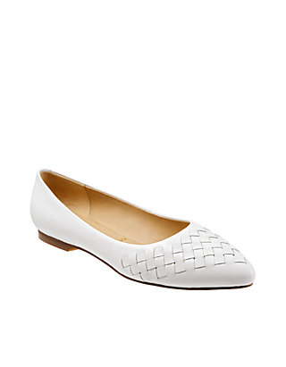hot new products best deals on latest fashion Trotters Estee Woven Pointed Toe Flats | belk