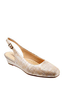 Trotters Lenore Slingback Wedge Flat Shoes