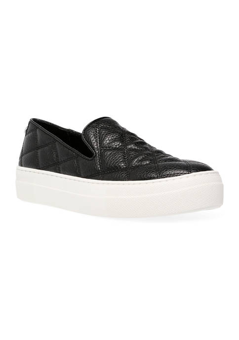 Womens Globe Quilted Sneakers