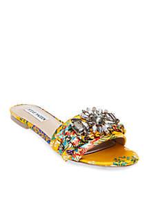 Pamona Embellished Slide Sandals