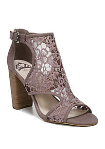 FERGALICIOUS by FERGIE Maddox 3 Peep Toe Block Heels