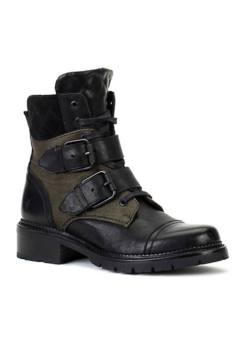 Frye Samantha Belted Hiker Boots