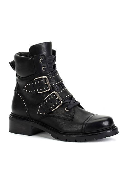 Frye Samantha Stud Belted Boots