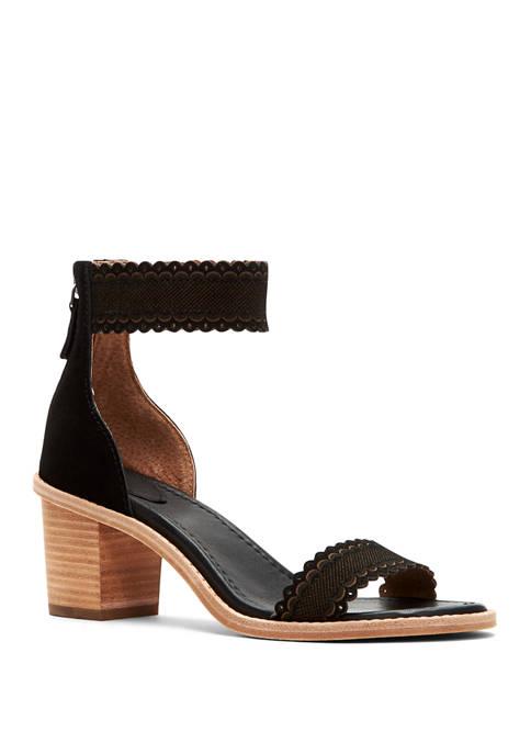 Frye Brielle Scallop Back Zip Sandals