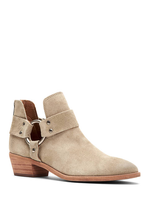 Ray Harness Back Zip Leather Booties