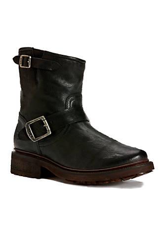 Valerie Moto Buckle Detail Block Heel Boots AOgmJz