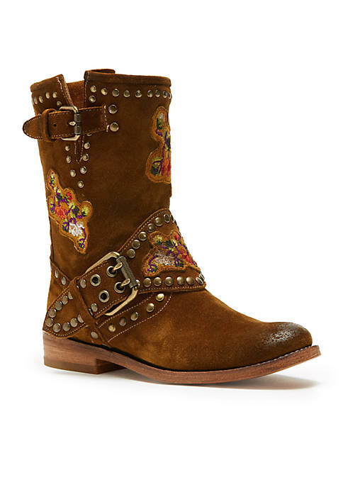 Frye Nat Flower Engineer Boots