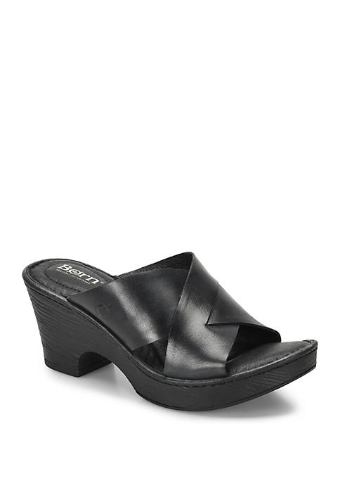 b.ø.c. Coney Navy Wedge Sandals