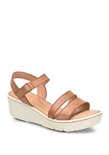 Pawnee Brown Wedge Sandals