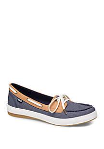 Keds Charter Chalk Stripe Boat Shoes
