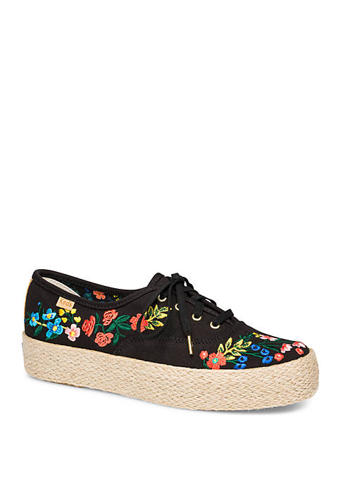 Triple Rifle Paper Co Wildwood Embroidery Sneakers