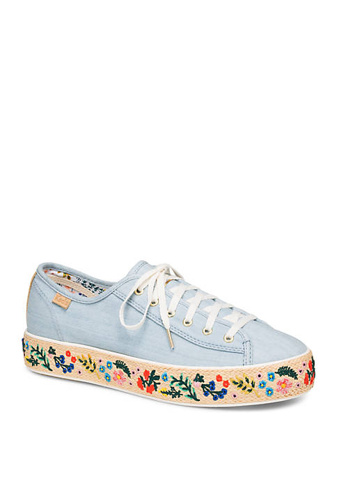 Triple Kick Rifle Paper Co Embroidered Sneakers