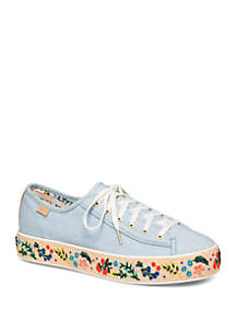 Keds Triple Kick Rifle Paper Co Embroidered Sneakers