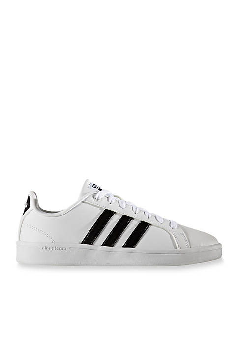 adidas Womens Cloudfoam Advantage Stripe Sneaker
