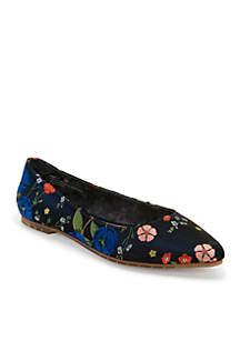 Aimee Almond Toe Flat
