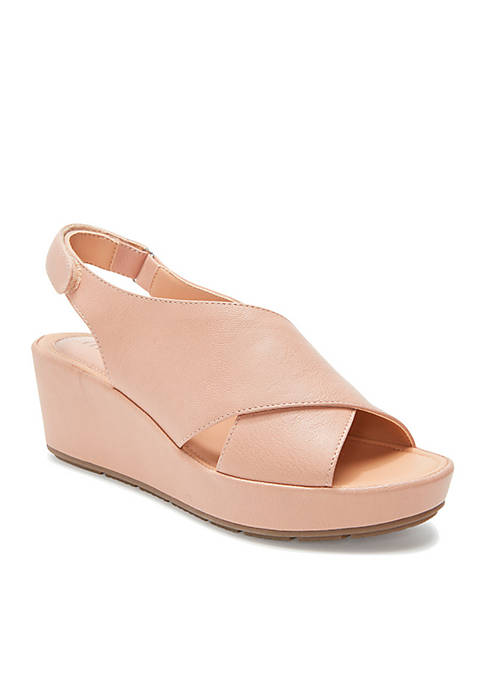 Arean Cross-Band Wedge Sandal