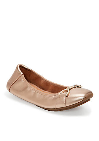 me Too Brielle Square Toe Chained Flat