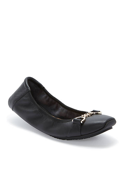 me Too Brielle Square Toe Leather Flat