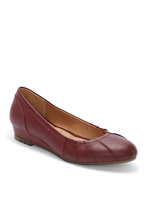 Marcie Pleated Low Wedge