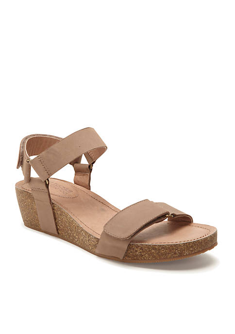 Shea Two Band Wedge Sandal