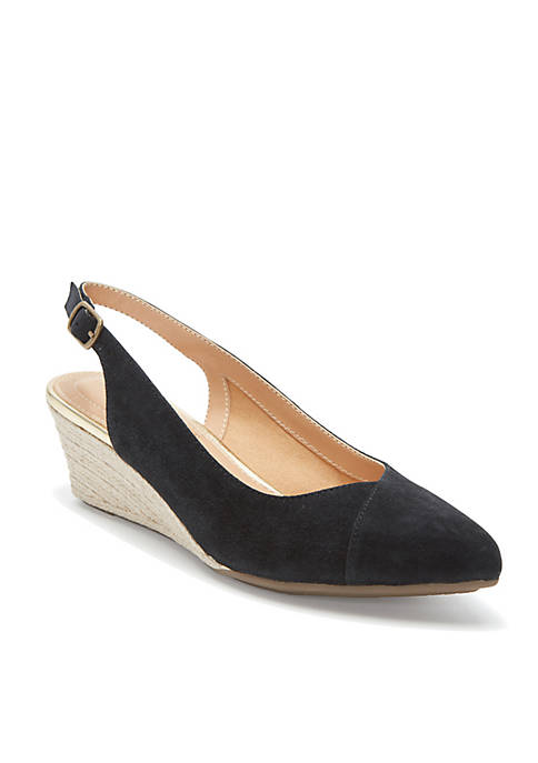 Sofia Pointed Toe Sling Back Wedge