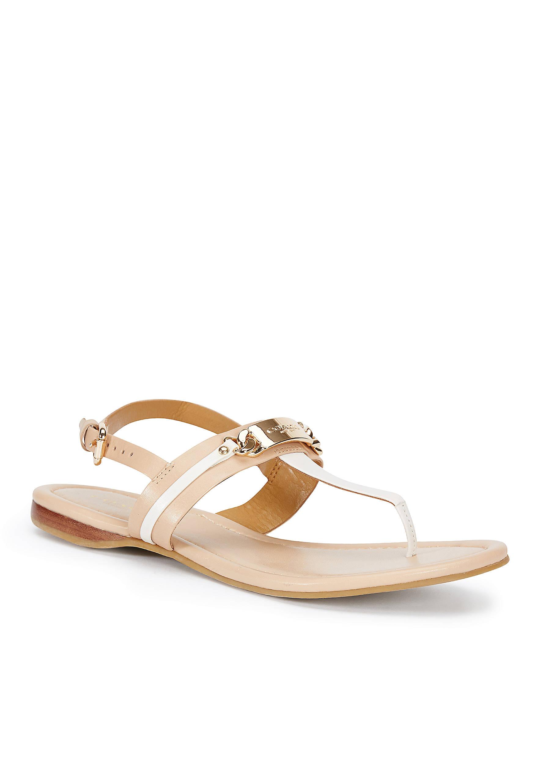 Womens Sandals COACH Caterine Beechwood