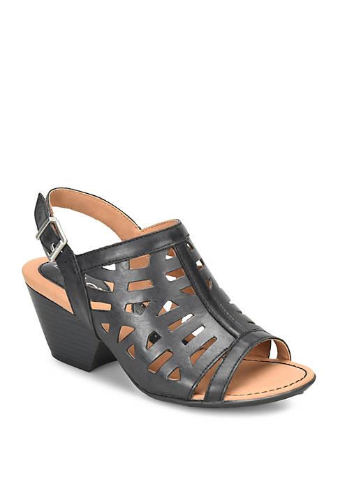 Dixie Black Sandals