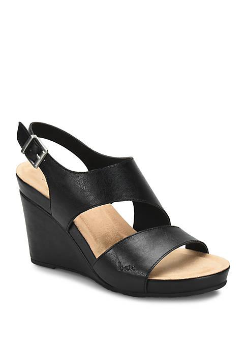 b.ø.c. Skim Black Wedge Sandals