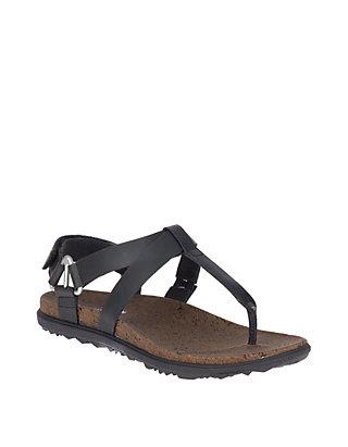 dd01e6a5b0bc Merrell Around Town Chey T Strap Black Sandals
