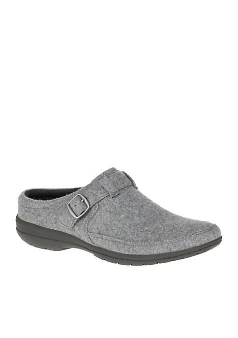 Grey Wool Kassie Buckle Slip-On Shoe