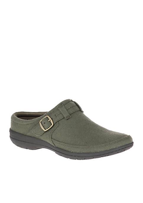 Olive Wool Kassie Buckle Slip-On Shoe