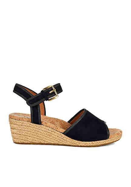 UGG® Australia Mae Ankle Strap Foot Bed Black HOdZ8Nk