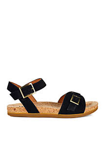 Mae Ankle Strap Foot Bed Black