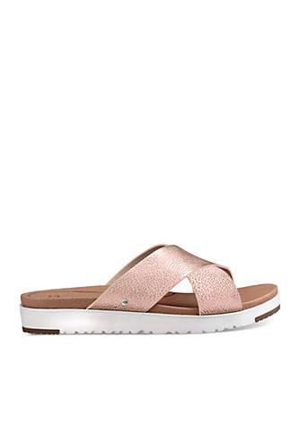 UGG® Australia Kari Cross Slide Suede Rose-Gold Sandals wwdHQ