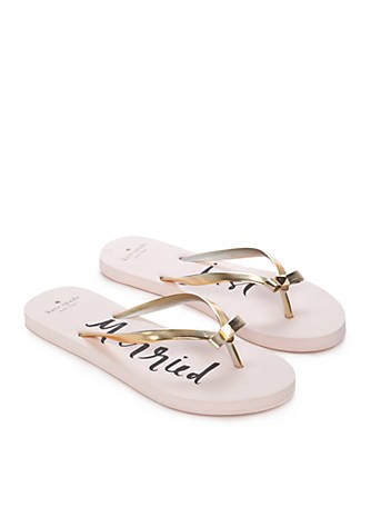 c60ec0ce6746 kate spade new york® Nadine Just Married Bridal Flip Flop