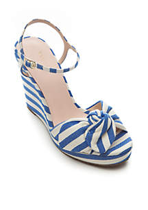 Janae Stripe Bow Wedges