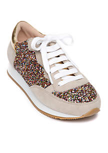 Felicia Glitter Trainer Sneaker