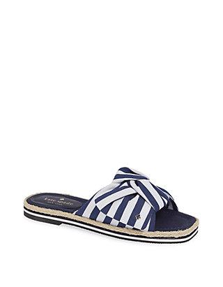 7aac17931f05 kate spade new york® Caliana Stripe Bow Slide Sandals