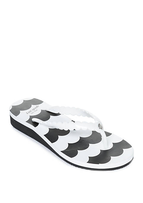 kate spade new york® Mare Scallop Flip Flops