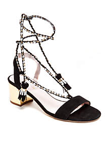 Manor Tie Heel Sandal - Available in Extended Sizes