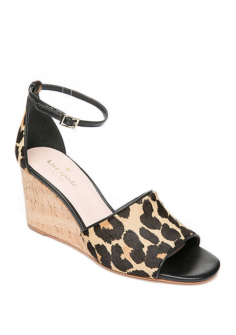 kate spade new york® Lonnie Leopard Wedges